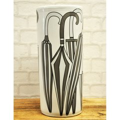 "18"" Round Gray & White Umbrella Stand"