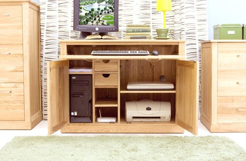 baumhaus mobel solid oak hidden. Baumhaus MOBEL Oak Hidden Home Office Mobel Solid L