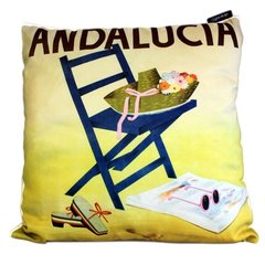 Andalucia Spanish Holiday Cushion
