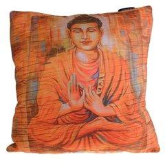 Peace Wood Buddha Cushion