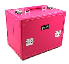 Vanity Case / Makeup Box Faux Leather Pink