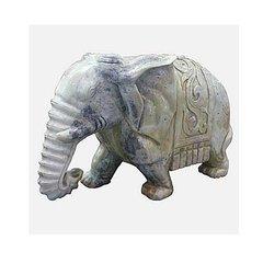 Large Chinese Lushan Jade Elephant Statue