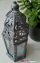 Silver Vintage Garden Lantern 24cm