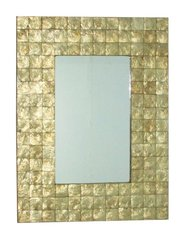 Rectangular Gold Shell Mirror
