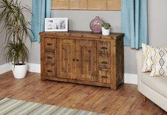 Baumhaus HEYFORD Rough Sawn Oak Six Drawer Sideboard