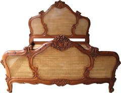 Antique Brown French Arch Bed