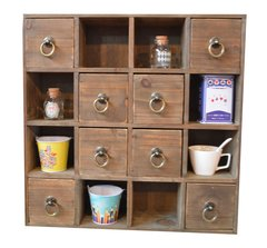 Multi Drawer Storage Unit with Ring Handles