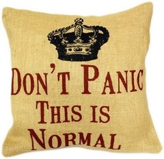 Don't Panic This Is Normal Cushion