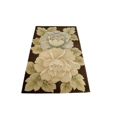 Tropical Brown Flower Rug