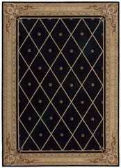 Traditional Aston House Black Rug