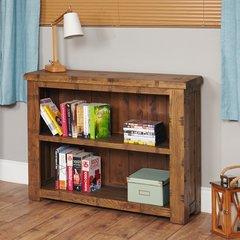 Baumhaus HEYFORD Rough Sawn Oak Low Bookcase