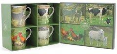 Set of 4 Farm Yard Animal Mugs