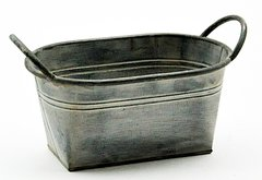 Galvanised Metal Planter 27.5cm