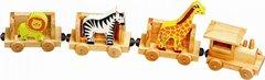 Children's Wooden Pull Along Animal Train