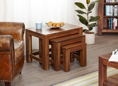 Baumhaus MAYAN WALNUT Nest of 3 Coffee Tables