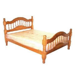 Alexandra 4' 6' Double Bed SOLID Pine Wood Bed