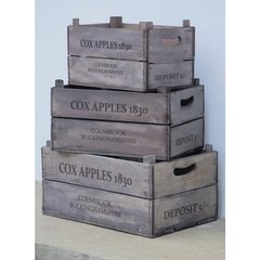 Set of 3 Apple Boxes