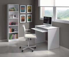 FERN Small Gloss White Computer Desk