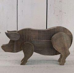 Driftwood Shaped Pig 40cm