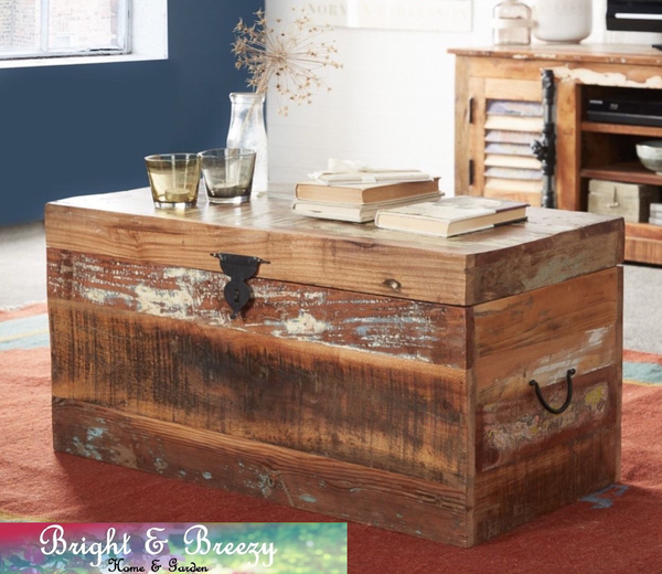 COASTAL Reclaimed Wooden Chest / Trunk