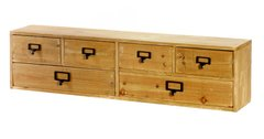 Wide 6 Drawers Wood Storage Organizer 80 x 14 x 20 cm