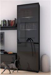 ROSE Black Gloss Tall Display Unit