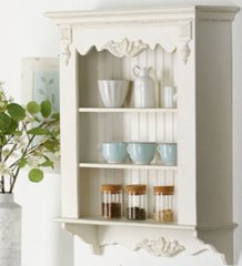 Wall Mounted White Shelving Unit Vintage Shabby Chic Country French