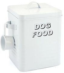 Metal Dog Food Tin with Scoop