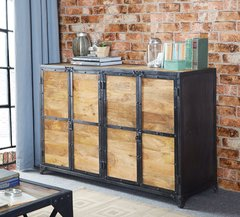 Indian Hub ASCOT Industrial Style Large Sideboard
