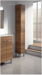 MULBERRY Tall Narrow Bathroom Cupboard Walnut