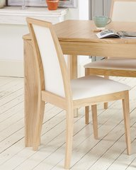Olten Uno Light Oak Dining Chair - Cream (Pack of Two)