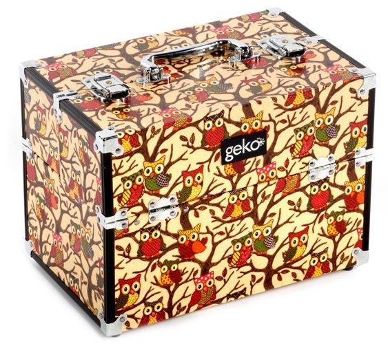 Vanity Case Makeup Box Cream Owl