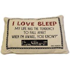 I love sleep Cotton Canvas Cushion