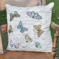 Butterflies Design Cushion 45 x 45 cm