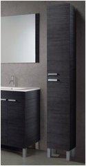 MULBERRY Tall Narrow Bathroom Cupboard Black Mala