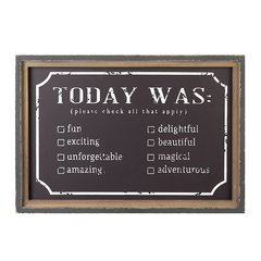 Framed 'Today Was' Chalkboard