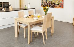 Baumhaus OLTEN Extending Dining Table in Light Oak Finish