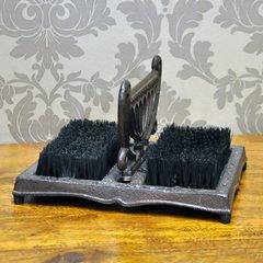 Rusty Iron Coloured Foot Scraper & Brush