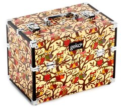 Vanity Case Makeup Box Cream Owl