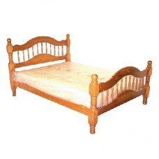 Alexandra 5' Kingsize Bed SOLID Pine Wood Bed