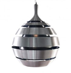 KOKOON Halley Brushed Steel With Silver Hanging Lamp