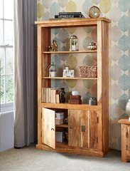 INDIAN HUB SLATE 2 Door Display Unit Bookcase