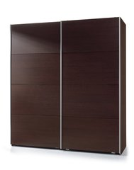 MAPLE Sliding Door Wardrobe 180cm Wenge Effect