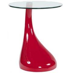 KOKOON Tear Glass Console / Side Table Red