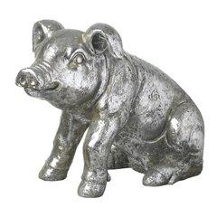 Silver Sitting Pig 74cm