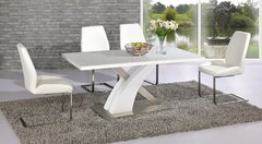 Mayfair XO Table with 4 Mariya Chairs White