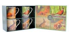 Set Of 4 Wildlife Mugs