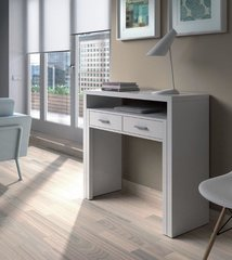 LILAC White Gloss Pull Out Desk Dressing Table or Console Table