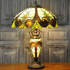 Multicoloured Double Tiffany Lamp 68cm