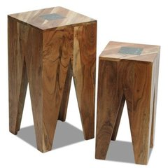 INDIAN HUB SLATE Nest Of 2 Tables